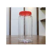 Transparent Plastic Spice & Pickle Jar 500ml ( Pack Of 6 )