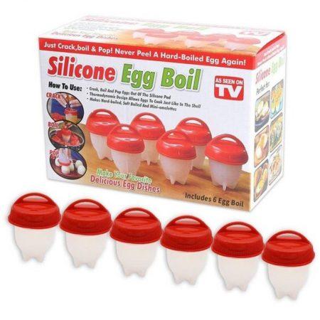 Silicone Egg Poachers for hard boiled eggs (Pack Of 6) TM-K262