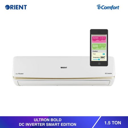 Orient 1.5 Ton Ultron Bold Ultra White Smart Edition DC Inverter Gold Fin