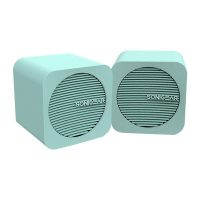 SonicEar Blue Cube USB Speakers In Mint
