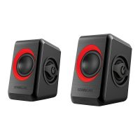 SonicEar Quatro 2 2.0 USB Portable Speaker Black & Red